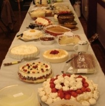 Puddings at the Salmon Supper