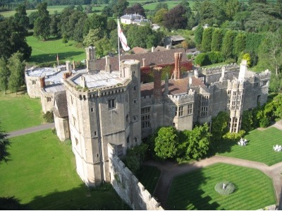 Thornbury Castle from the air